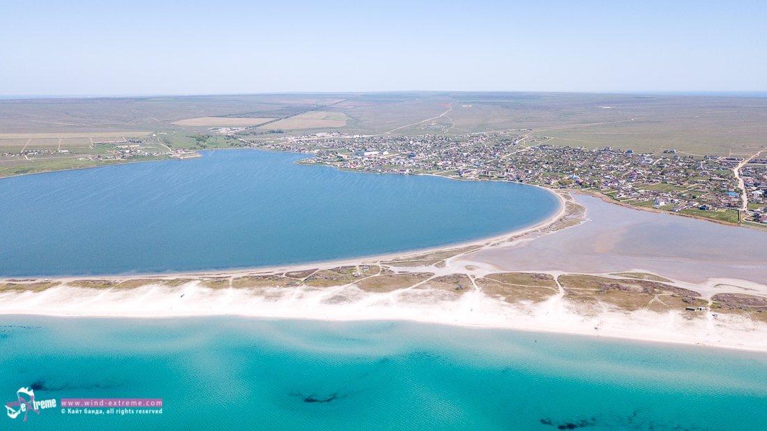 Песчаный пляж Крым, Оленевка, Тарханкут