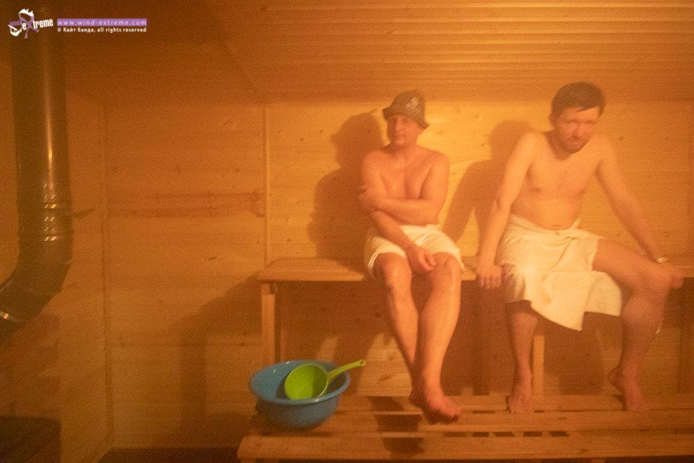 Кайт кемп в Тундре, баня