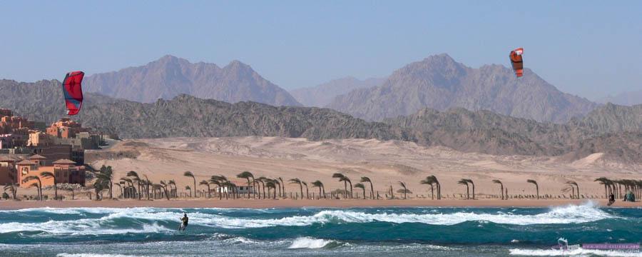 Волны и ветер в Шарм Эль Шейхе