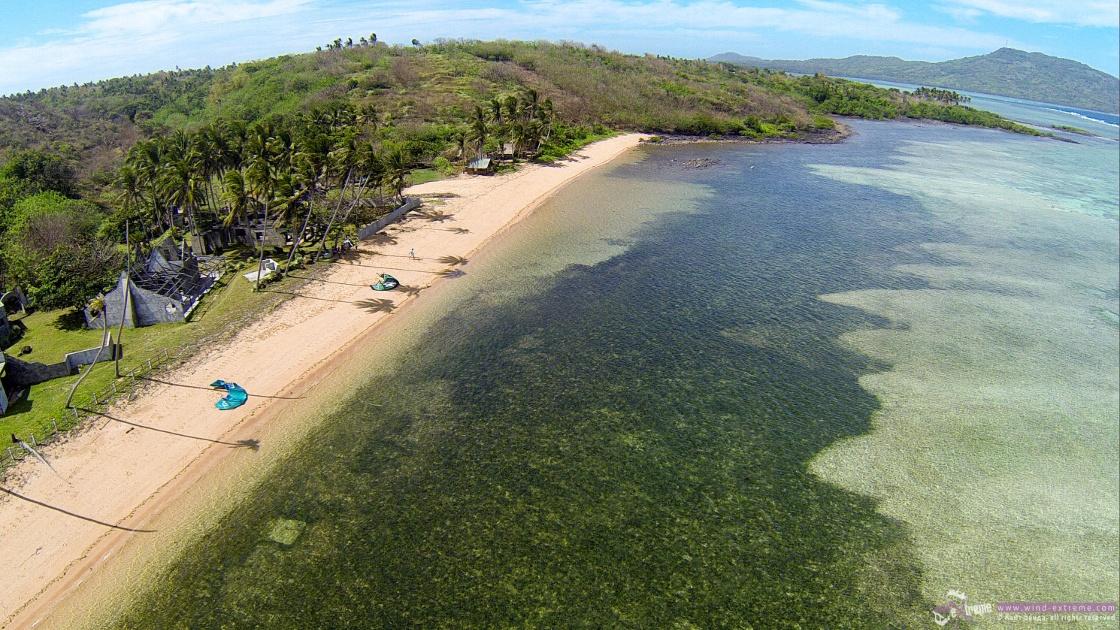 Кайт лагуна на острове Куйо