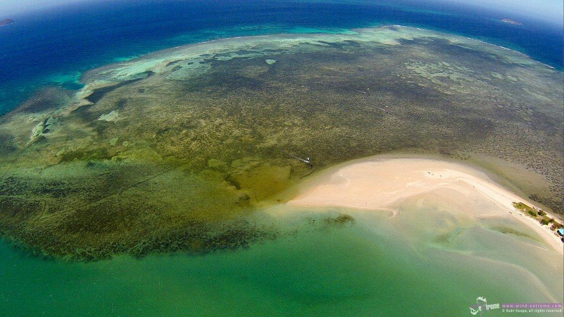Кайт коса на острове Кукйо