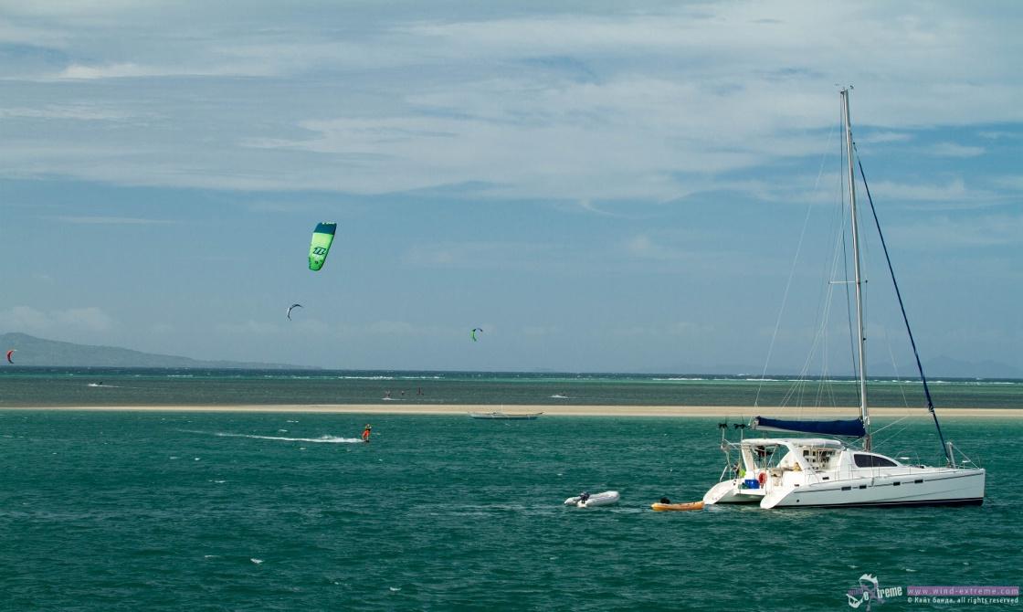Кайтсерфинг на острове Куйо